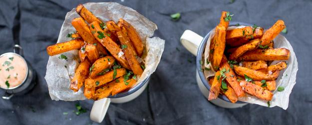baked sweet potato fries 1