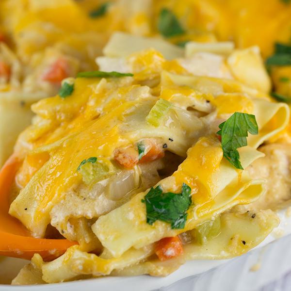 cheesy turkey noodle casserole 2