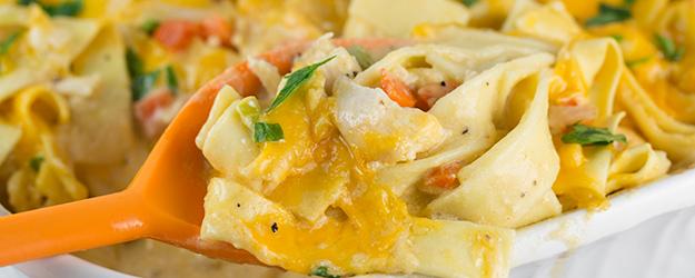 cheesy turkey noodle casserole 1