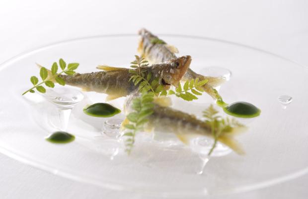 A dish from Yoshihiro Narisawa's restaurant Narisawa in Tokyo, Japan.