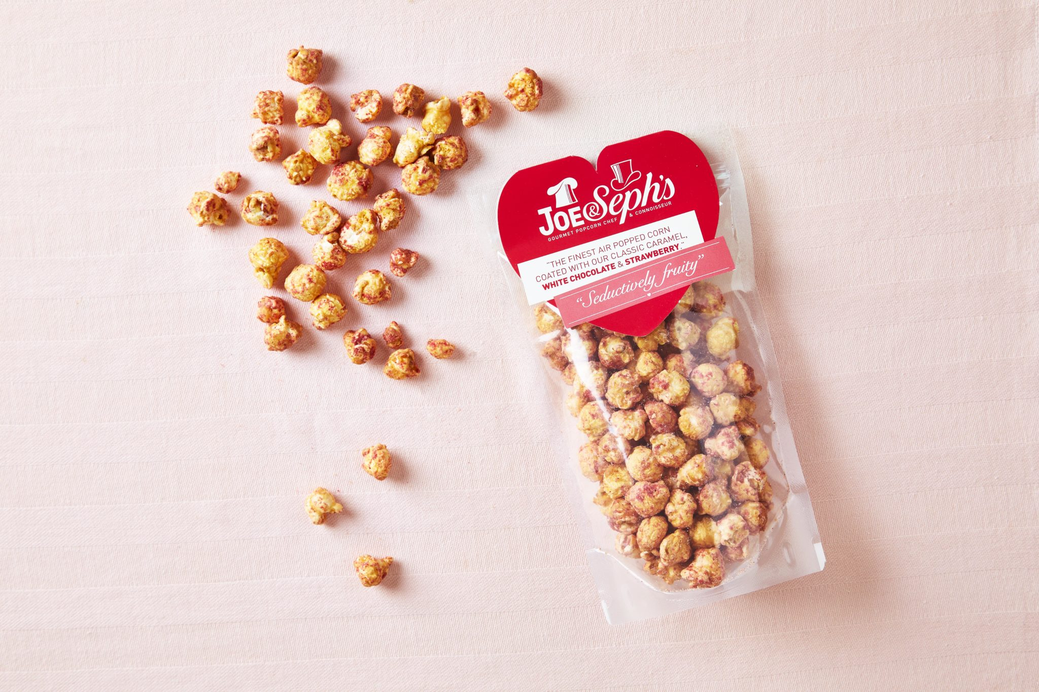 Joe & Seph's White Choc & Strawberry Gourmet Popcorn