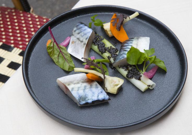 Le Flaubert - Mackerel, onions, seaweed @Lisa Klein Michel
