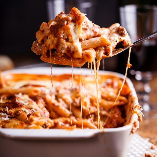 Bolognese pasta bake