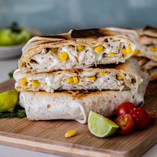 Easy chicken corn crunchwraps