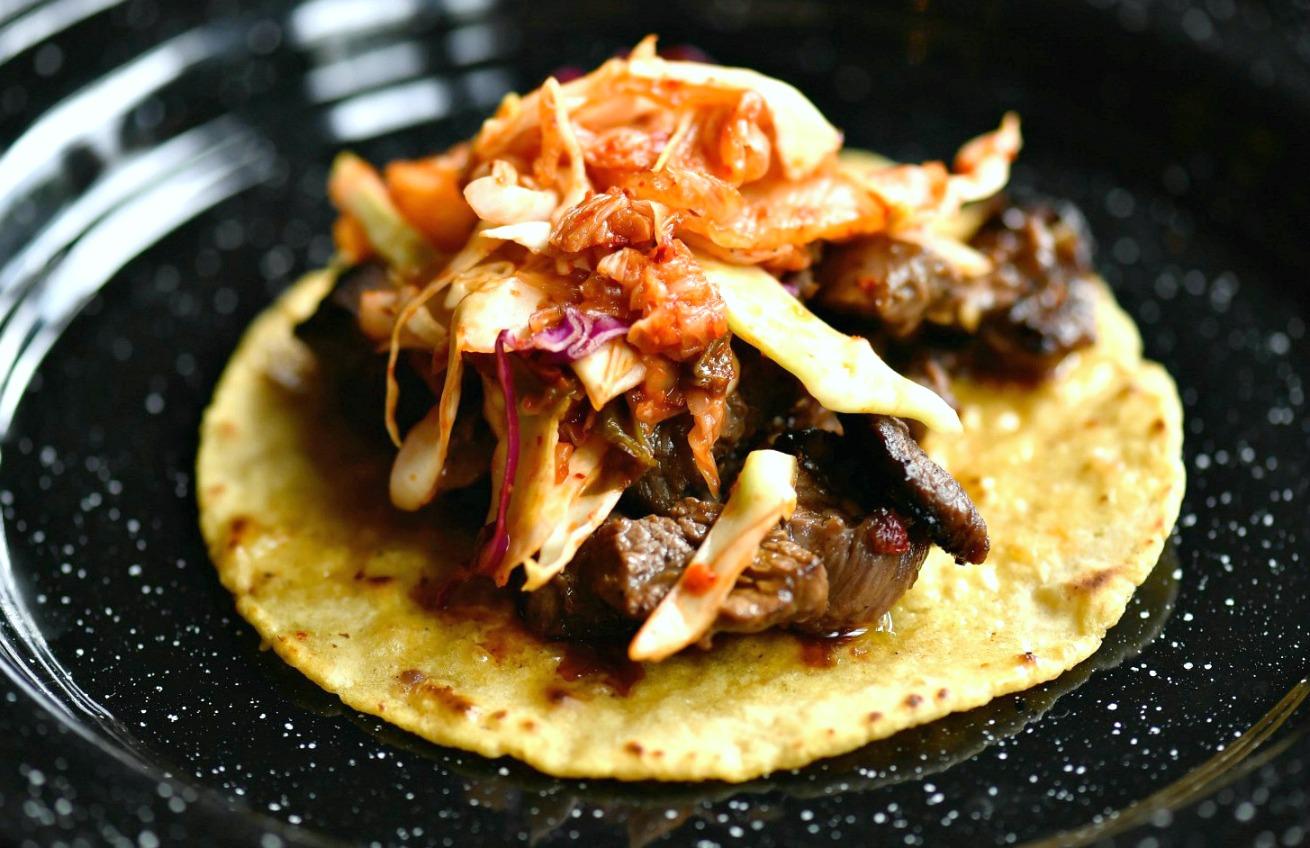 Rojo Gusano Korean BBQ Taco