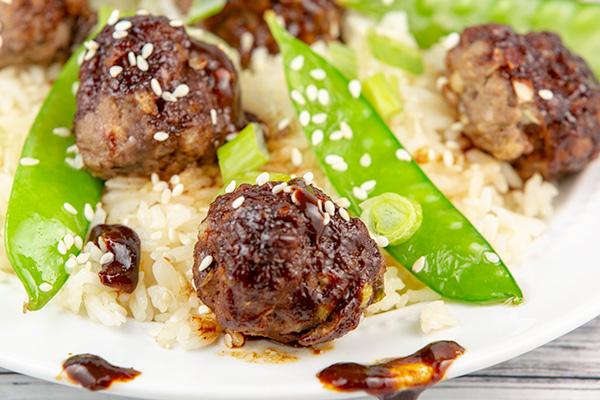 asian glazed meatballs 4