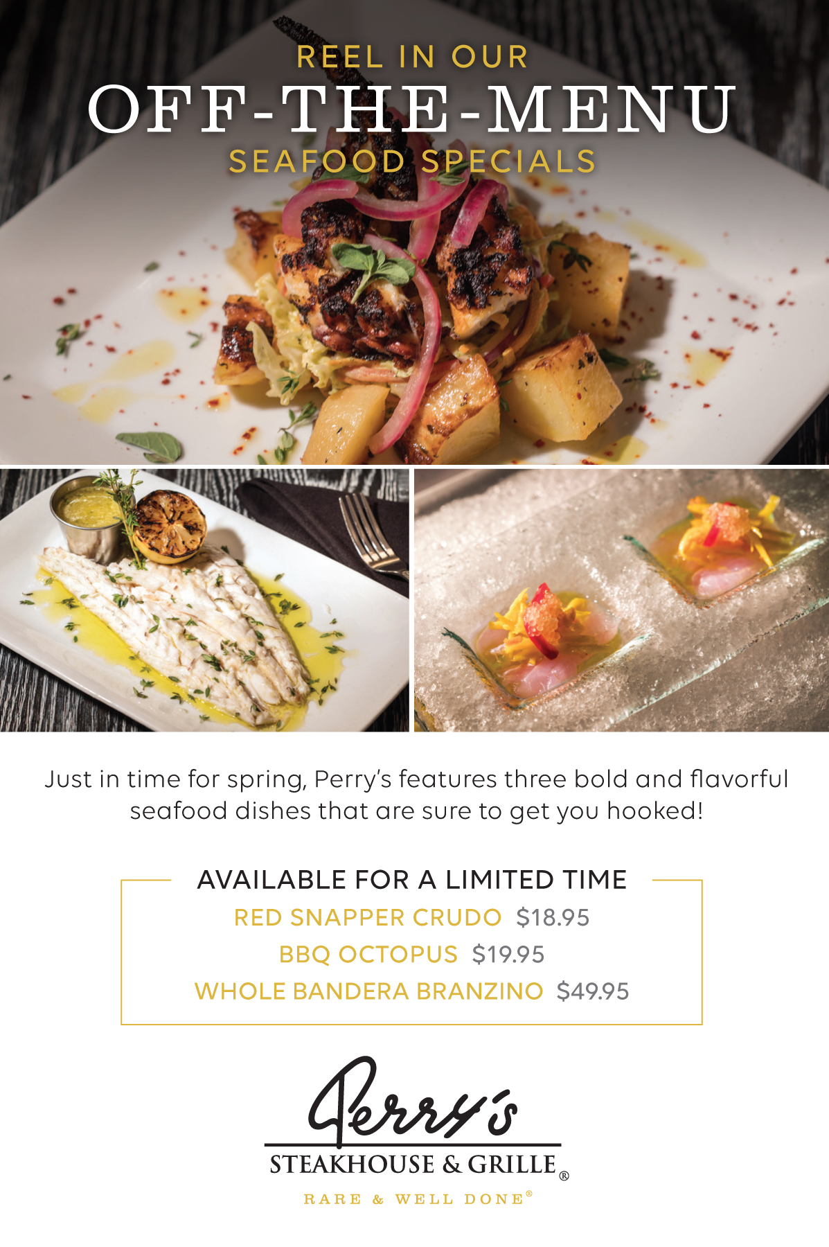 Perry's Off The Menu Seafood Specials for Spring