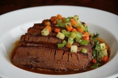 BBQ Braised Brisket and Roasted Cauliflower