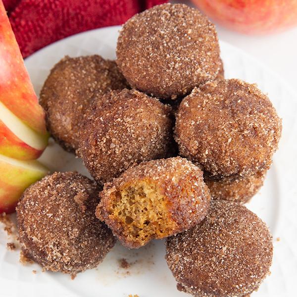 baked apple cider donut holes 3