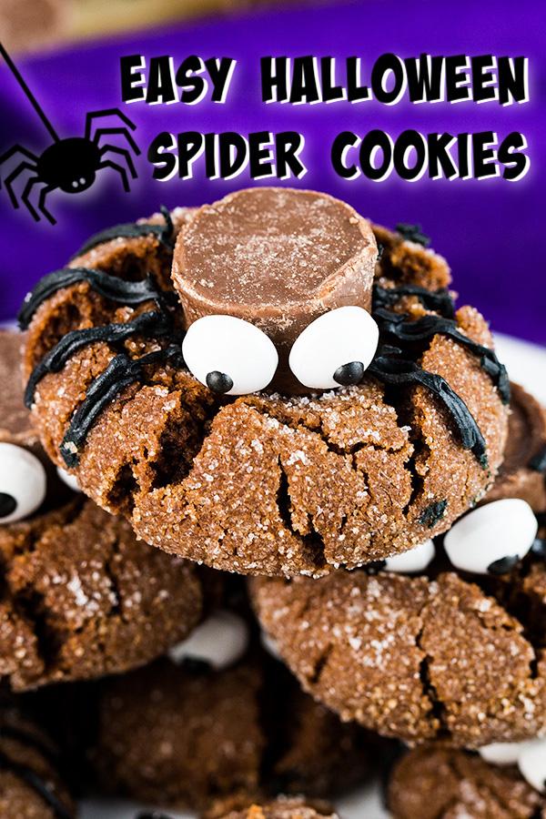 easy halloween spider cookies 2