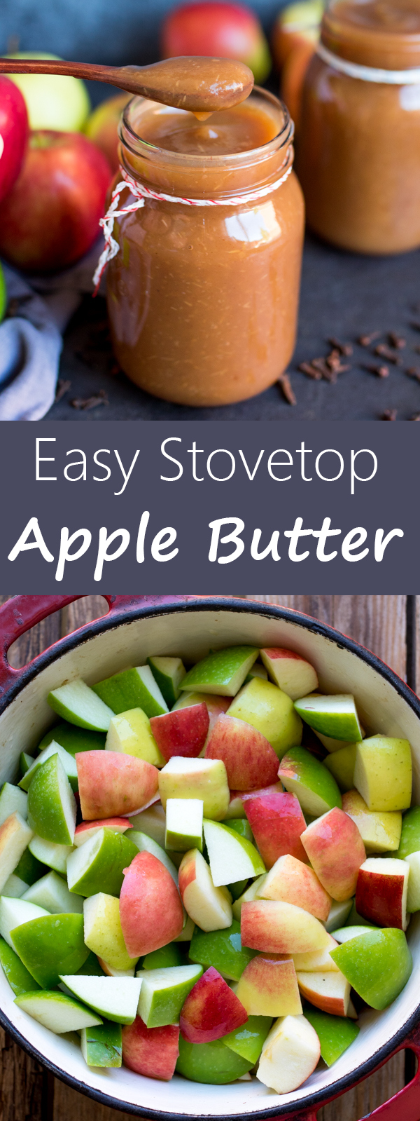 easy stovetop apple butter pin