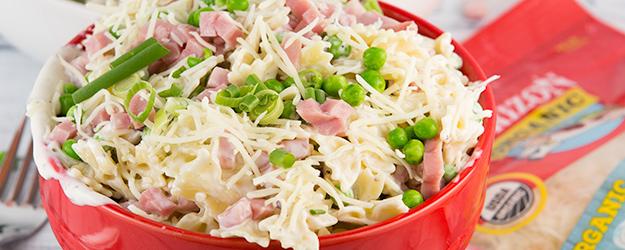 Creamy Ham and Cheese Pasta Salad