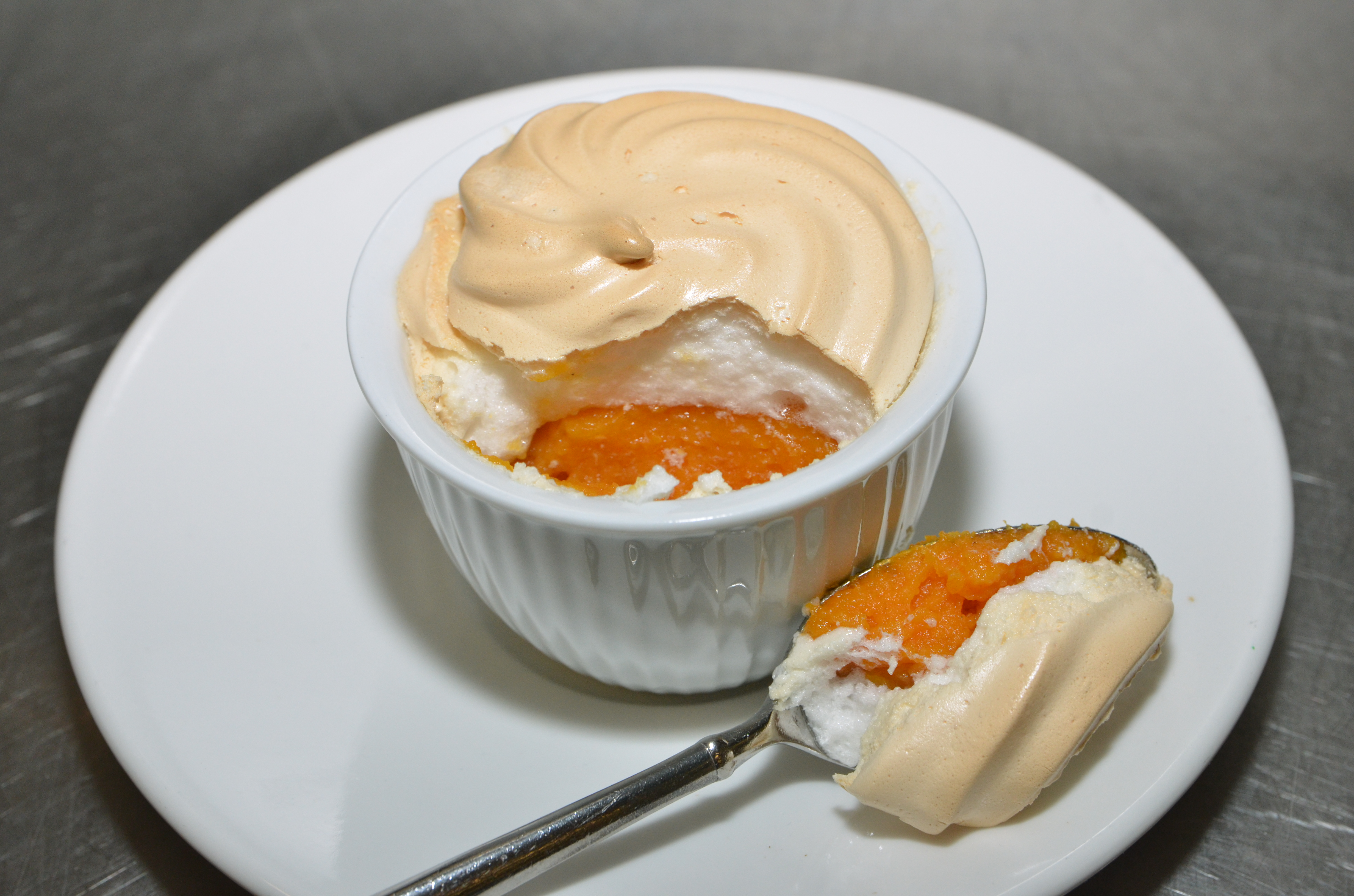Butternut Squash topped with homemade marshmallow