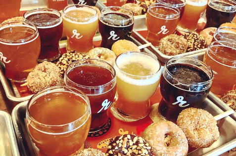 Instead of braving the Black Friday crowds, settle in with donuts from Scouts Mini Donuts paired with Reubens Brews coffee beers, made in collaboration with local roaster Kuma Coffee.