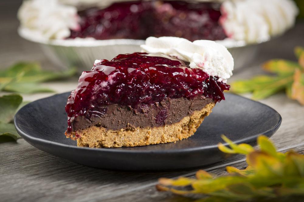 Slice of Cranberry Fudge Pie