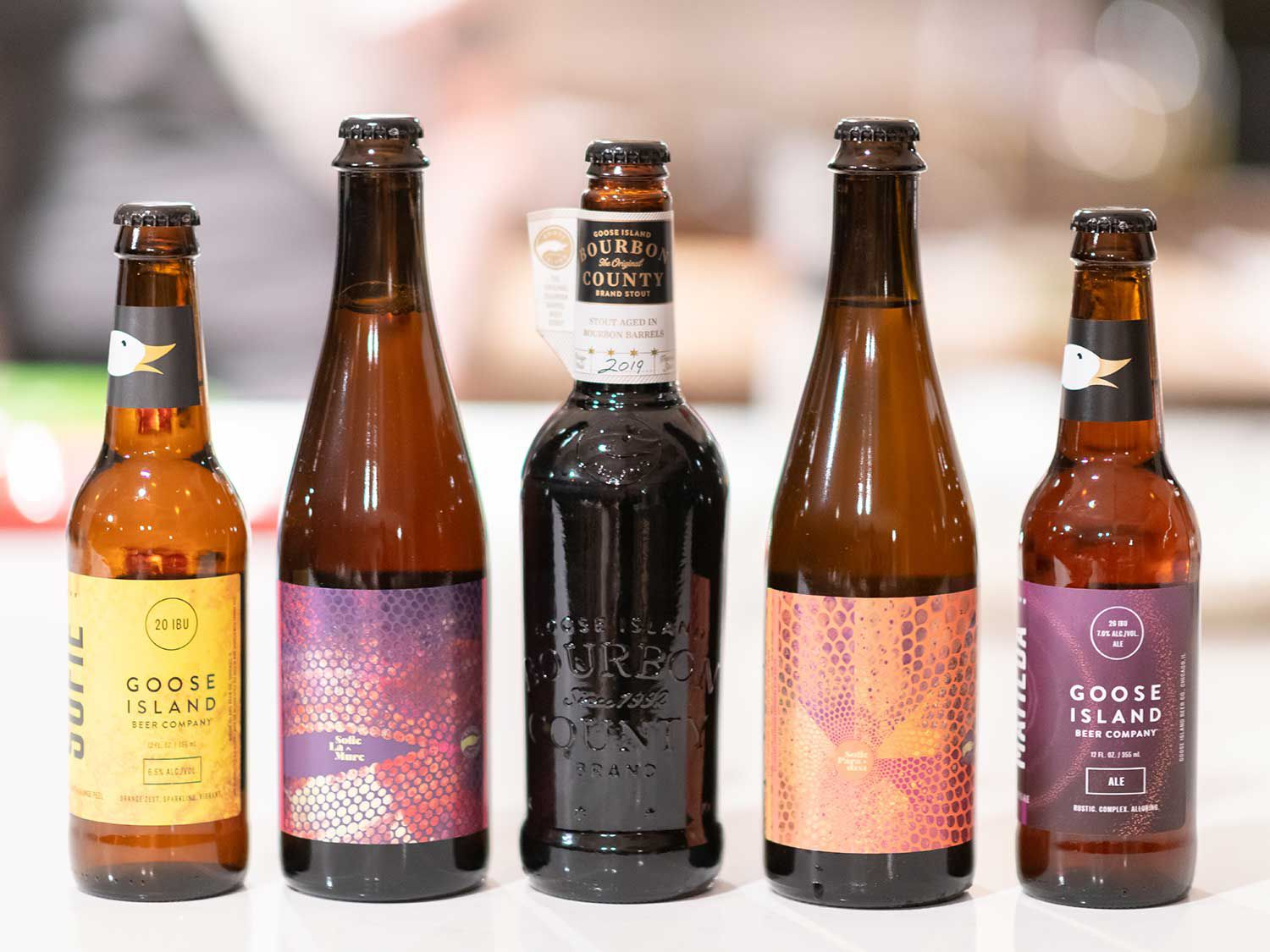 Goose Island bought a stellar line-up of brews to pair with Baxtrom's dishes.