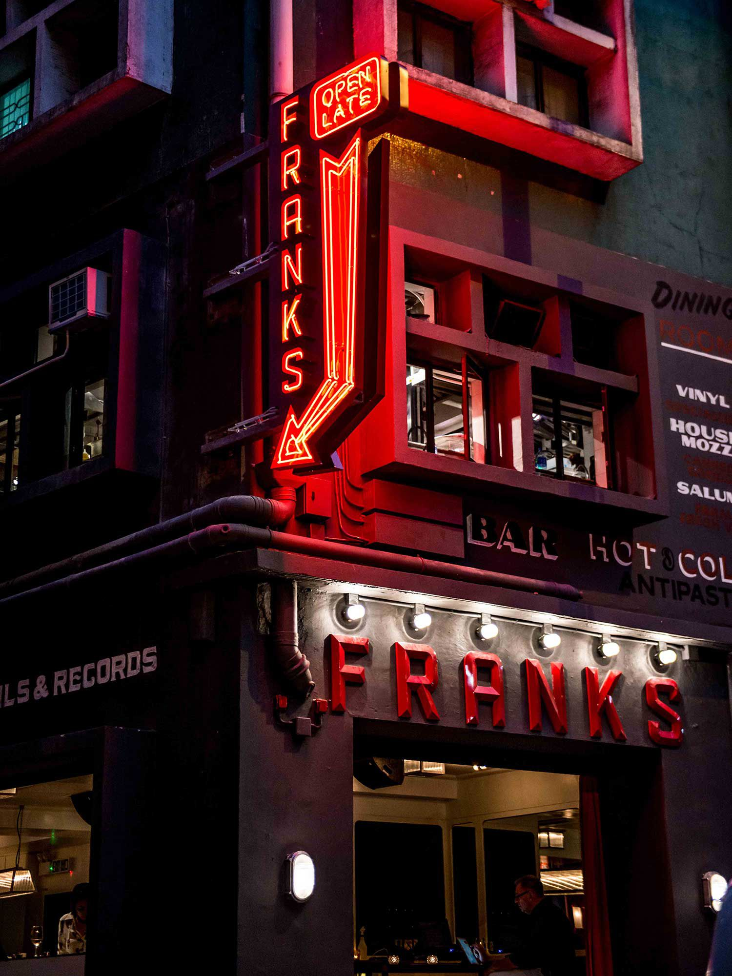 Darling's newest restaurant Frank's opened in early 2019.