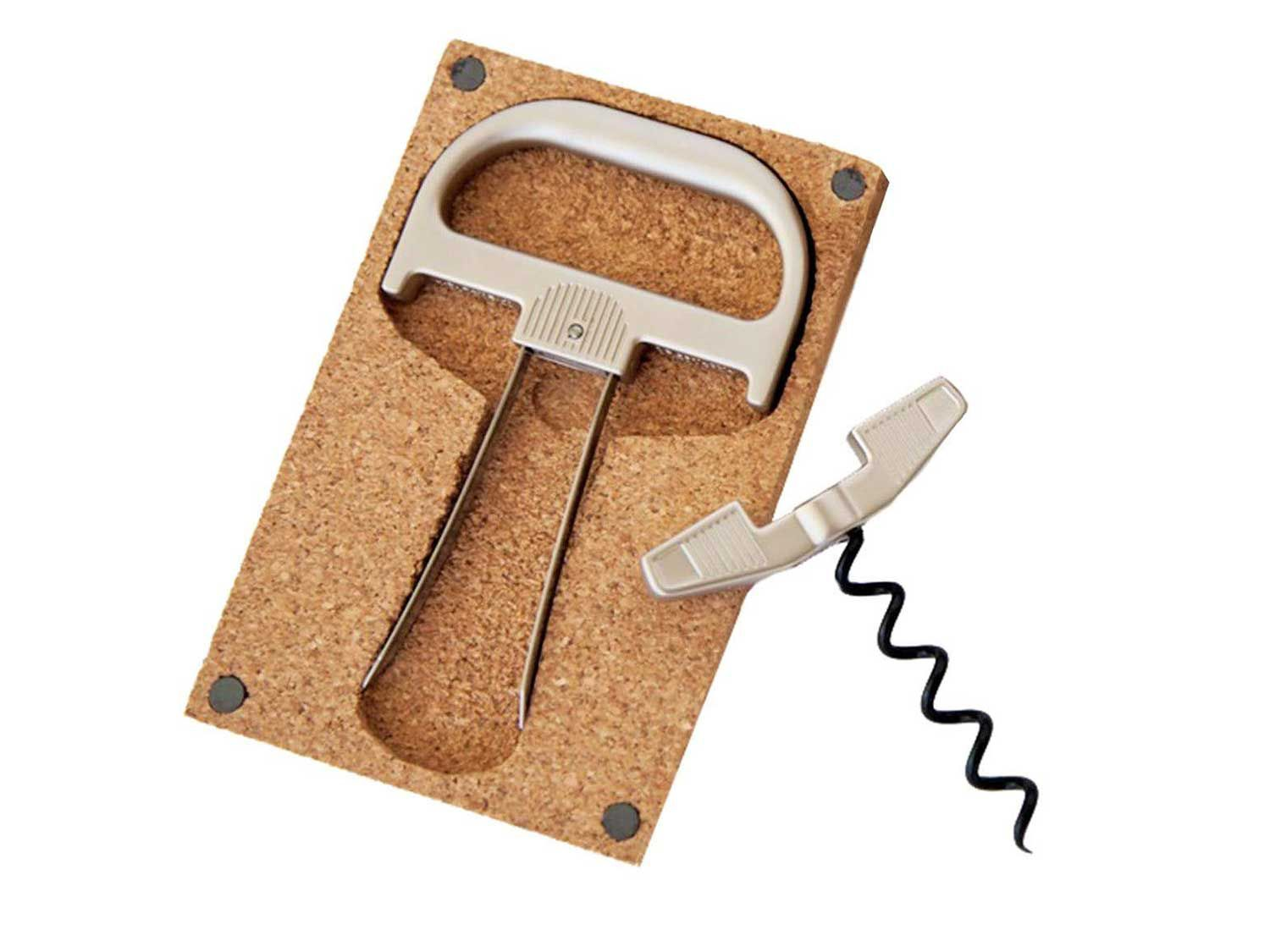 This bottle opener is best for older, more fragile corks on finely aged wines.