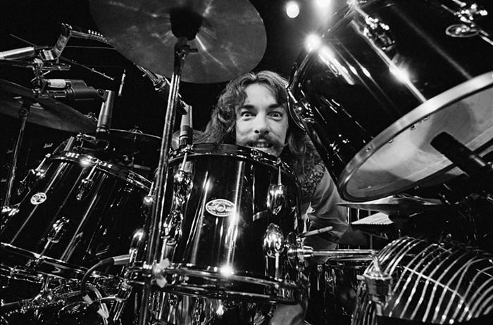 Drummer Neil Peart in 1977.
