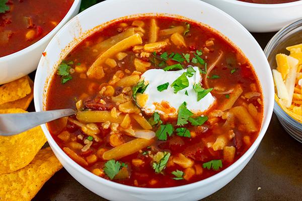 easy instant pot taco soup 4