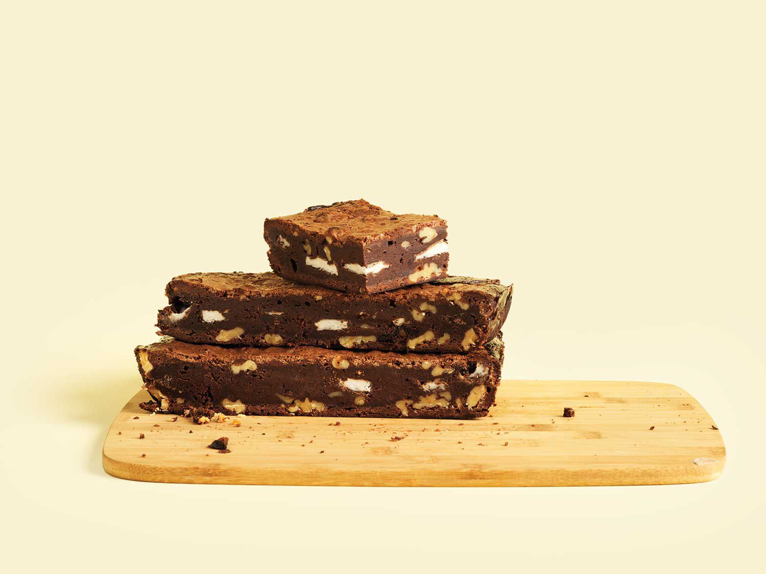 """<a href=""""https://www.saveur.com/article/Recipes/Palm-Beach-Brownies-with-Chocolate-Covered-Mints/"""">Get the recipe for Palm Beach Brownies with Chocolate-Covered Mints »</a>"""