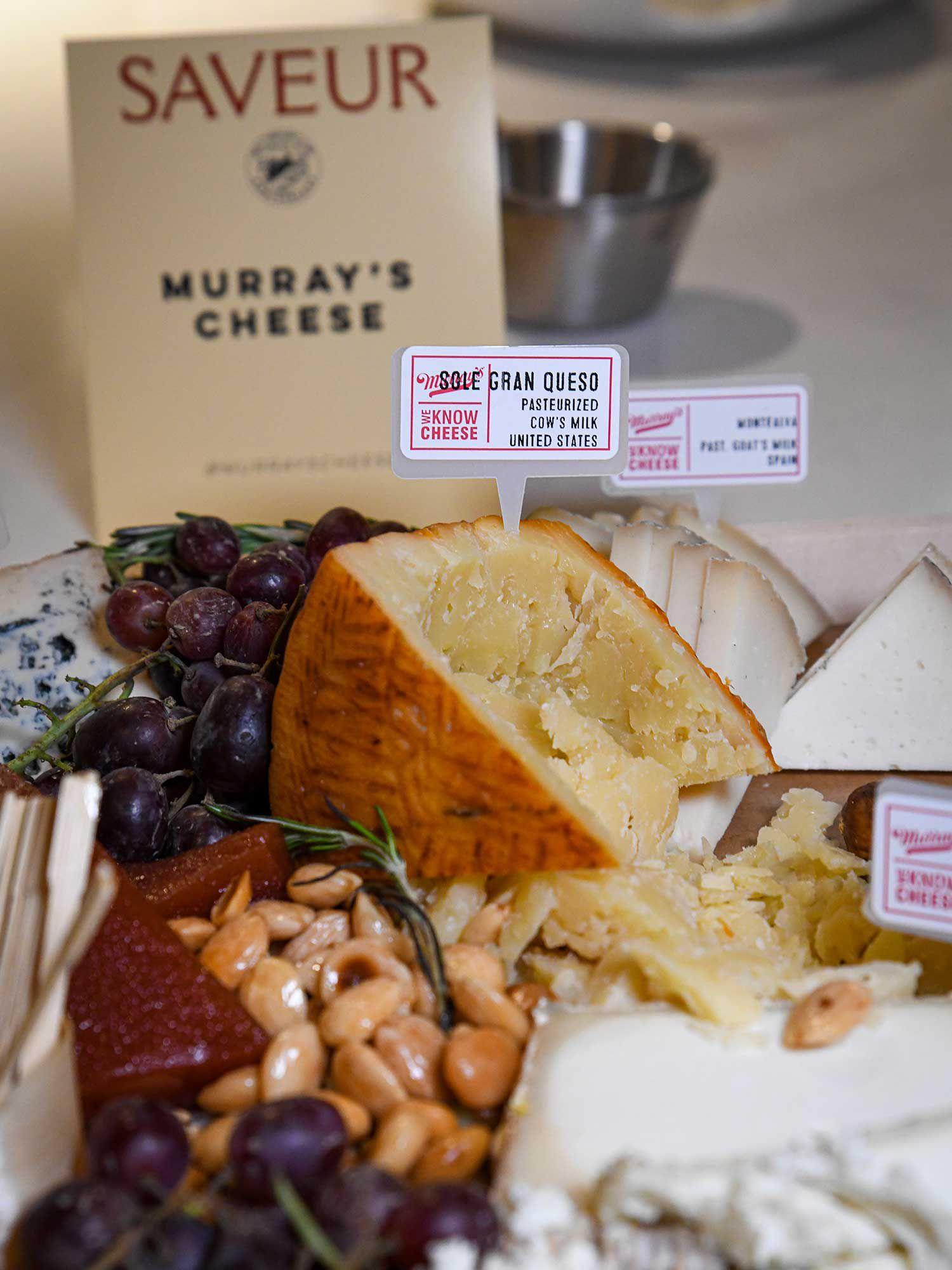 "<a href=""https://www.murrayscheese.com/?gclid=CjwKCAiAg9rxBRADEiwAxKDTuumxrqixItBe2xURgfjPGYSxqGr9X9bFMtVI8CgtfUSFOdabDD4vzBoCaU0QAvD_BwE"">Murray's Cheese</a> supplied beautiful cheese boards for the event."