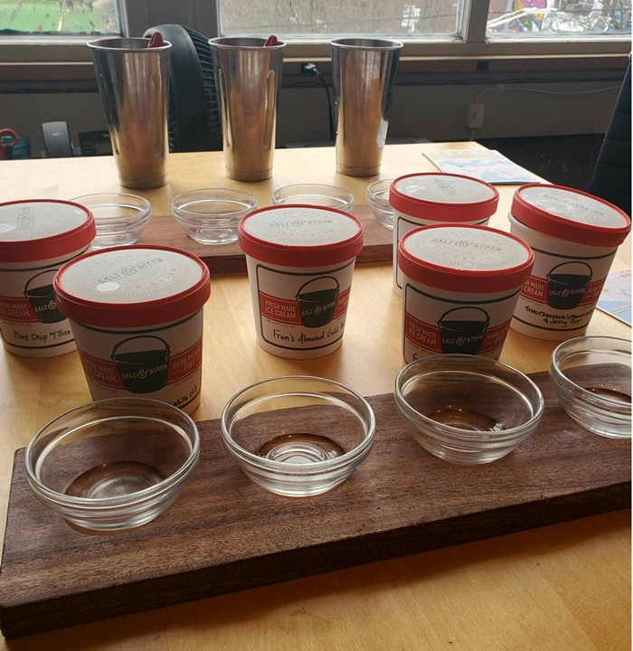Friday afternoon Salt and Straw ice cream tasting. So much yum.