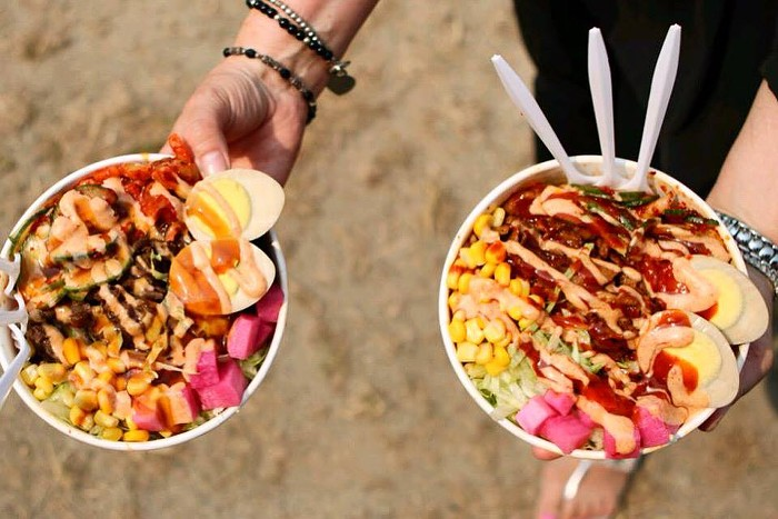 Capitol Hills new Seoul Bowl lets you customize your own Korean bowl with your choice of rice and protein—and toppings like a gooey melted cheese fall poured over the top.
