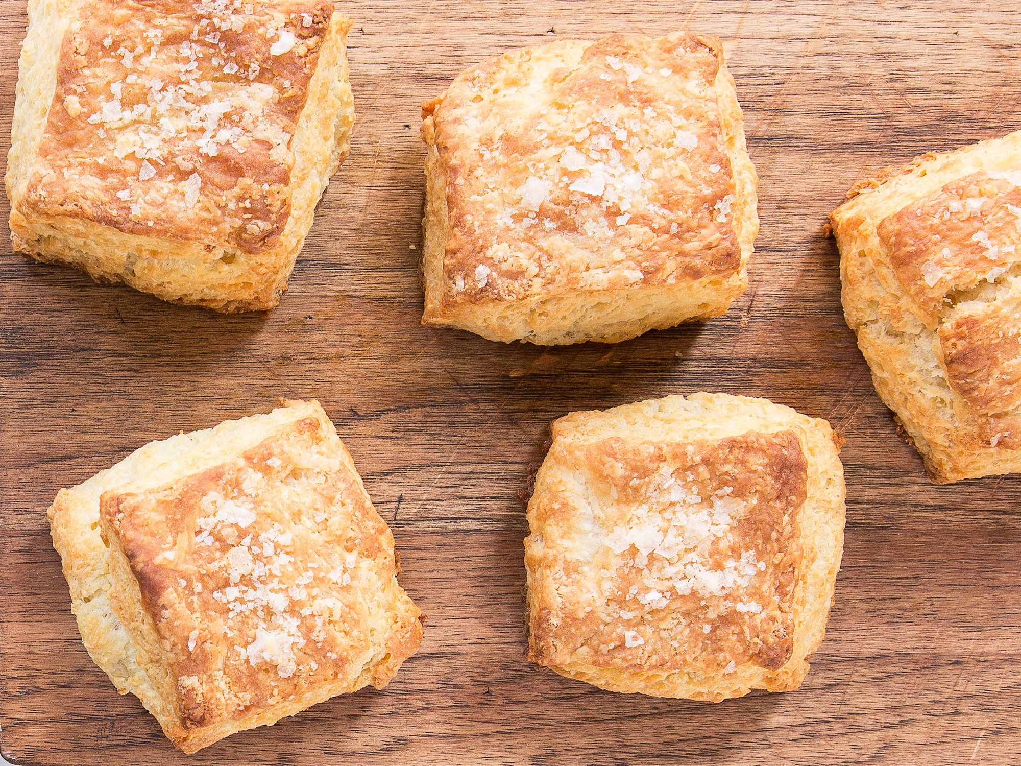 """Treated like puff pastry, the dough for these buttery biscuits is rolled and folded several times to create multiple flaky layers. Get the recipe for <a href=""""http://www.saveur.com/nancy-silvertons-all-butter-biscuits-recipe"""">Nancy Silverton's All-Butter Biscuits</a>"""