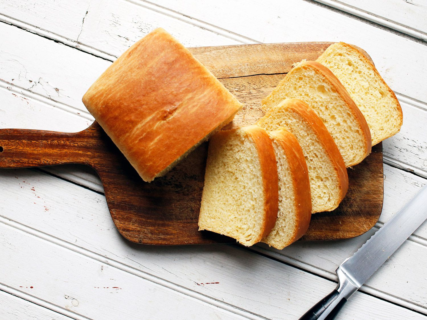 """The generous amount of eggs and butter in this classic French bread yields a rich, tender crumb and the most irresistible pillowy texture. Get the recipe for <a href=""""https://www.saveur.com/brioche-recipe/"""">Brioche</a>"""