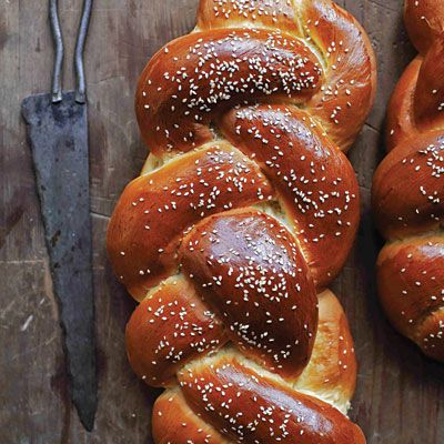 """This eggy, yeasted bread is a welcome addition to any spread. Get the recipe for <a href=""""http://www.saveur.com/article/Recipes/Challah-Braided-Egg-Bread"""">Challah</a>"""