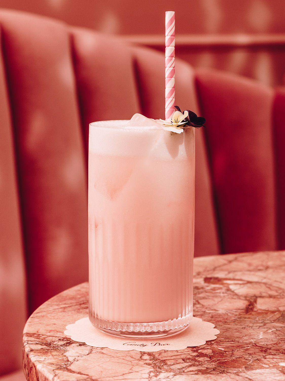 "This pretty-in-pink spritz tastes like a boozy strawberry egg cream. Get the recipe for <a href=""https://www.saveur.com/strawberry-spritz-recipe/"">Strawberry Spritz</a>"