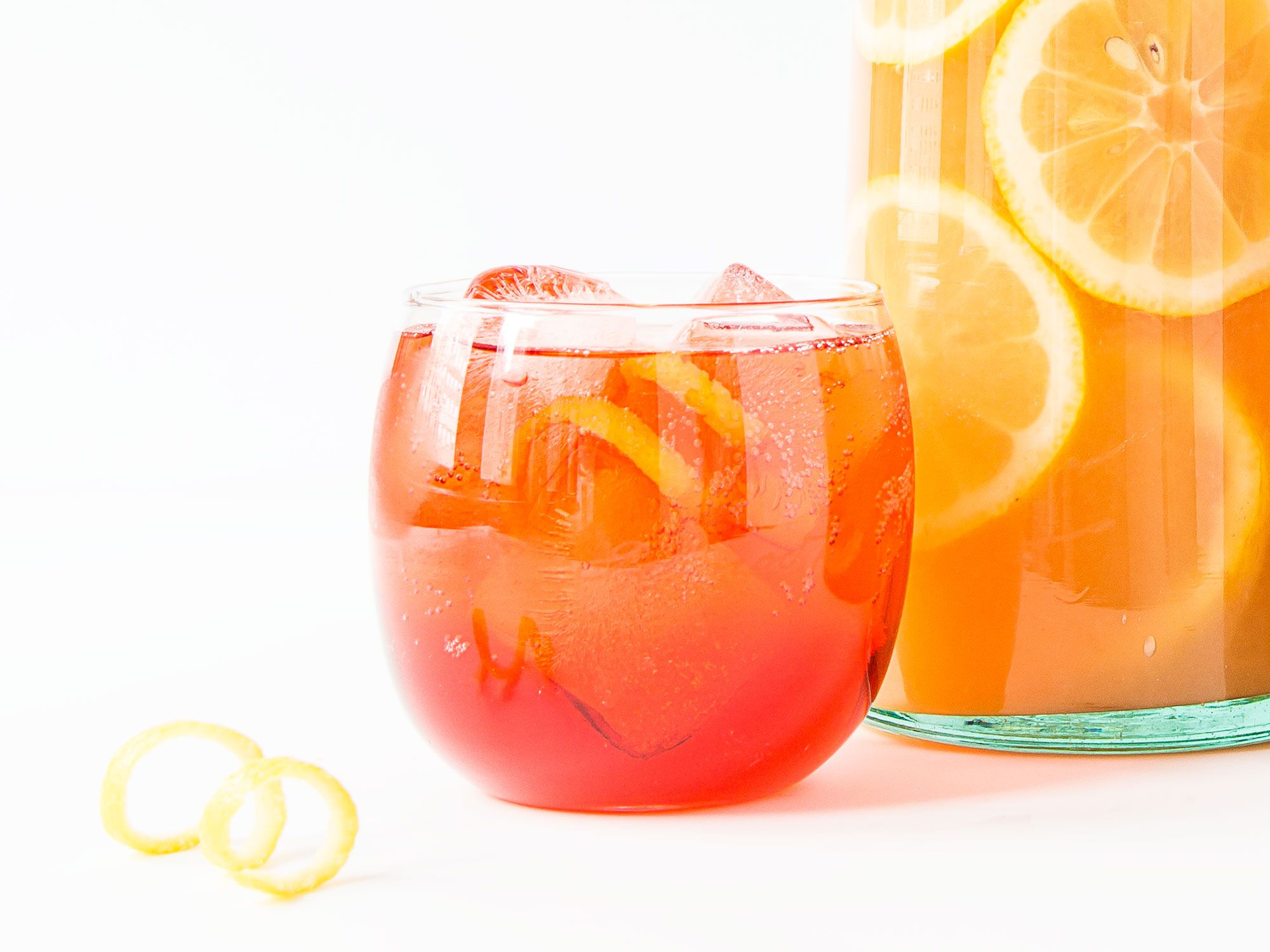 """This spritz cocktail swaps in a red wine aperitif in place of Aperol, for a cocktail with more pronounced red berry notes, and still plenty of effervescence. Get the recipe for <a href=""""http://www.saveur.com/moto-guzzi-cocktail-recipe"""">Moto Guzzi</a>"""