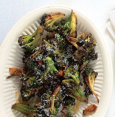 "This dish, which pairs beautifully with pork chops, can be made with regular broccoli, broccoli rabe, or romanesco. Get the recipe for <a href=""https://www.saveur.com/article/Recipes/Broccoli-with-Garlic-and-Hot-Pepper-Broccoli-Strascinati/"">Broccoli with Garlic and Hot Pepper (Broccoli Strascinati)</a>"