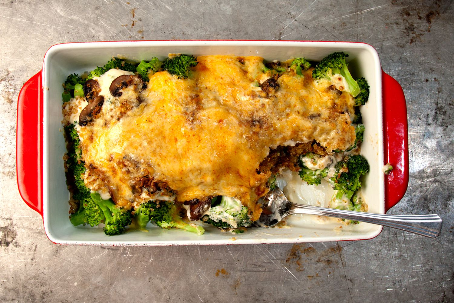 "Broccoli and cheddar are a classic pair; their mellow flavors marry in this creamy casserole. Get the recipe for <a href=""https://www.saveur.com/article/Recipes/Classic-Broccoli-Casserole"">Kellie's Broccoli Casserole</a>"