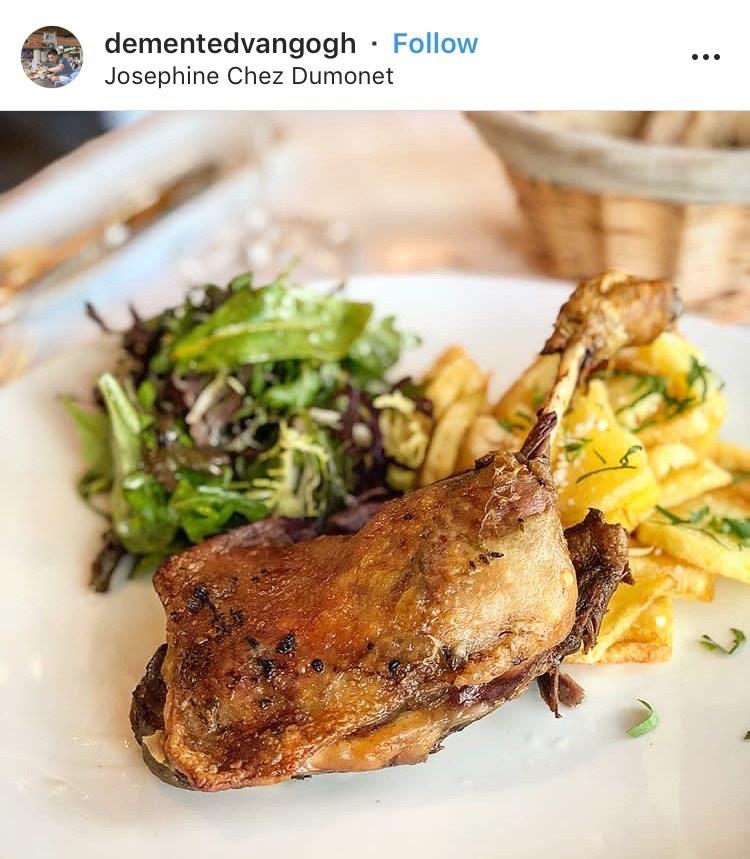 Josephine Chez Dumonet Paris duck confit