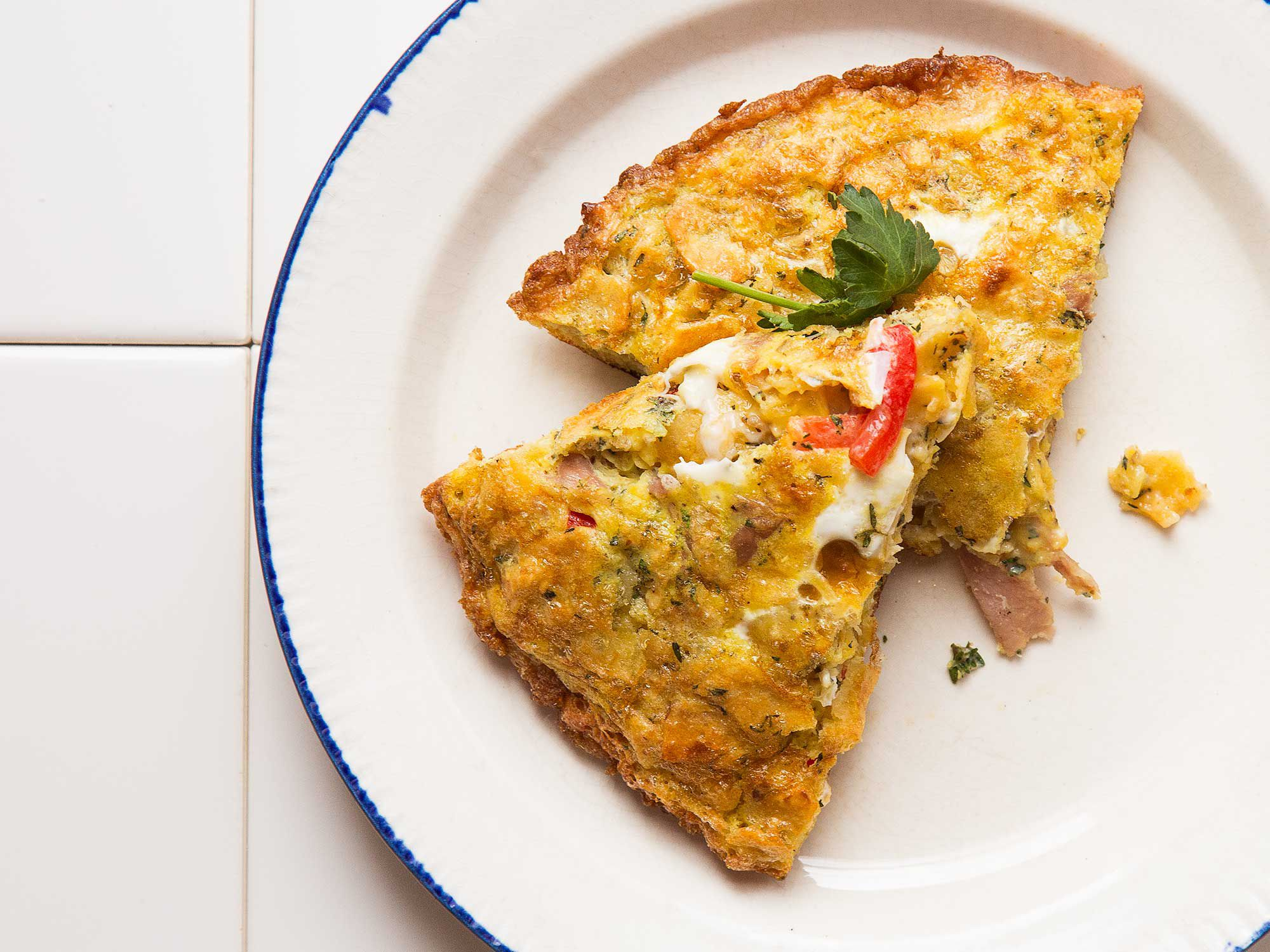 """Renowned Spanish chef Ferran Adrià's tortilla española relies on potato chips instead of the usual thinly sliced potatoes. <a href=""""https://www.saveur.com/article/Recipes/Classic-Spanish-Potato-Frittata/"""">Get the recipe for Tortilla Española with Potato Chips »</a>"""