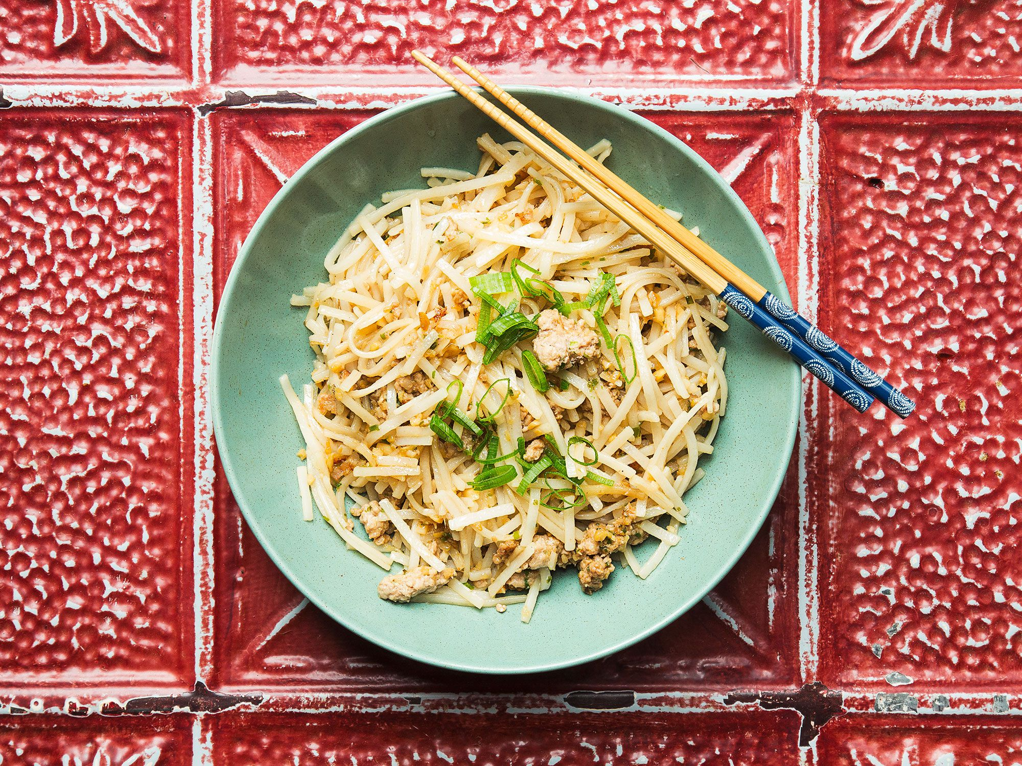 """Any Chinese noodle—rice, wheat, flat, thin, or broad—can be used in this simple stir-fry from author Francis Lam; it's one of his favorite breakfast dishes. <a href=""""http://www.saveur.com/article/recipes/stir-fried-breakfast-noodles"""">Get the recipe for Stir-Fried Breakfast Noodles »</a>"""