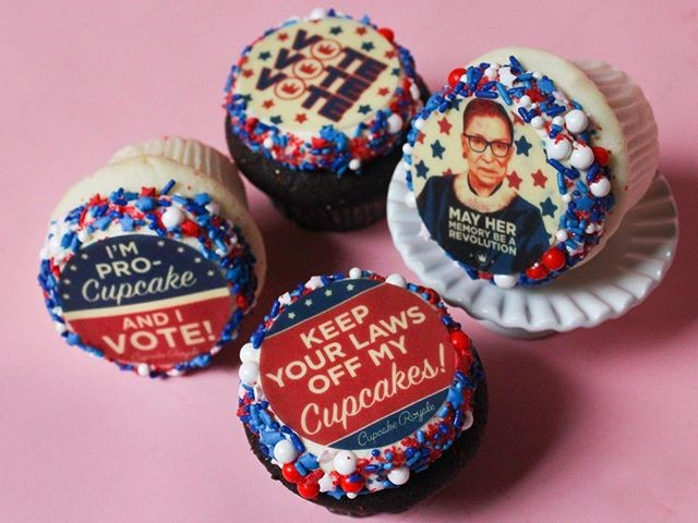 Add some flair to your debate viewing with election-themed cupcakes from Cupcake Royale.