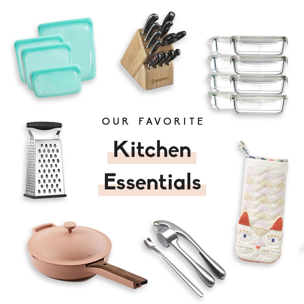 collage of kitchen essentials
