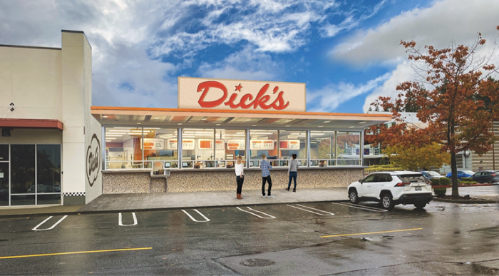 Mock-up of the future Dick's Drive-In
