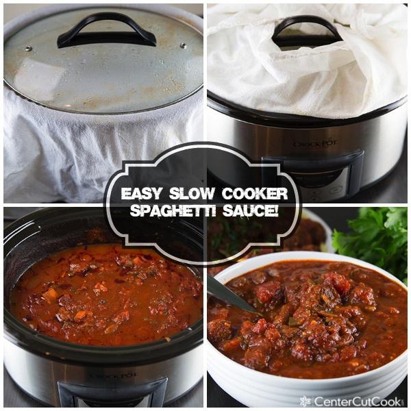 Spaghetti sauce collage