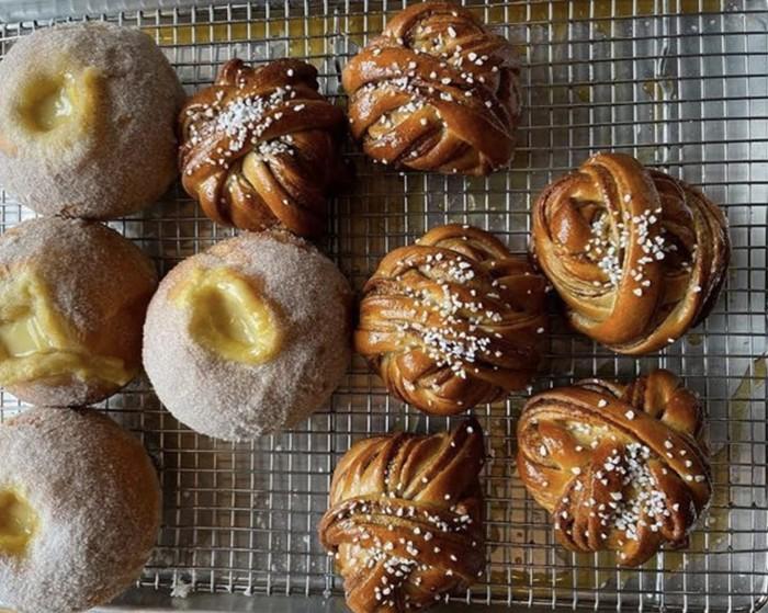 The new bakery Saint Bread, currently open Tuesday-Friday, is bringing vanilla custard rolls and kanelbullar (Scandinavian cinnamon knots) to Portage Bay.