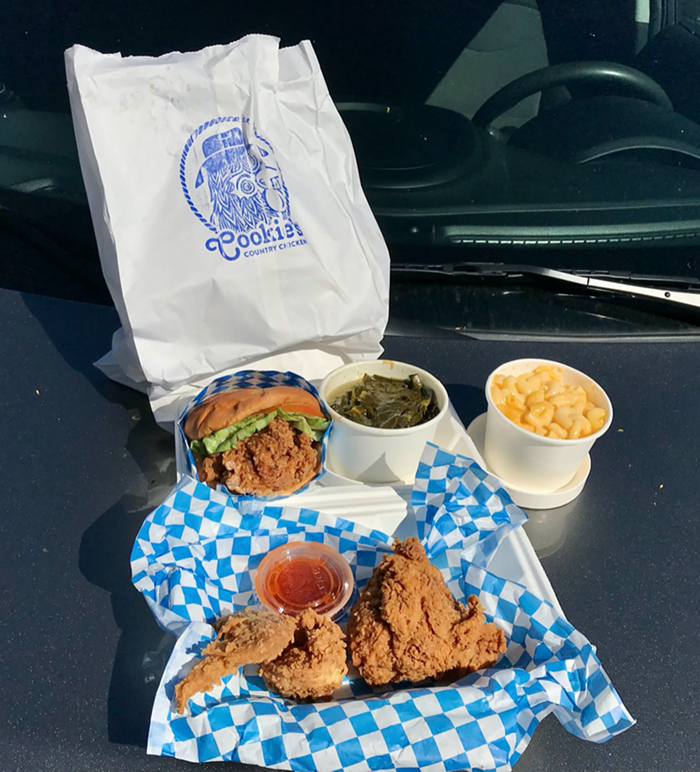 Cookie's Country Chicken: Eat it on the hood of your rental car in the Lil' Jon Restaurant's parking lot in Bellevue, when you need a break from Eastside traffic.