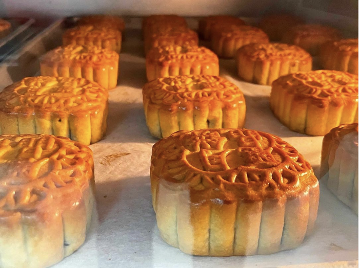 Regent Bakery is serving freshly baked mooncakes with a range of fillings for the Mid-Autumn Festival.