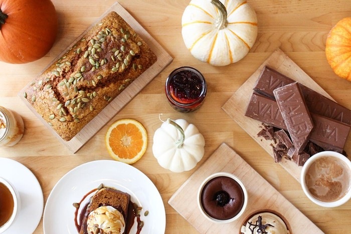 Cozy up with a cornucopia of fall treats at Hot Cakes.
