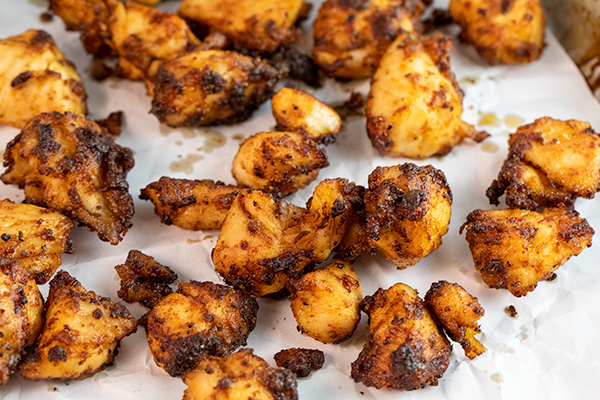 air fryer chicken bites {without breading} 2